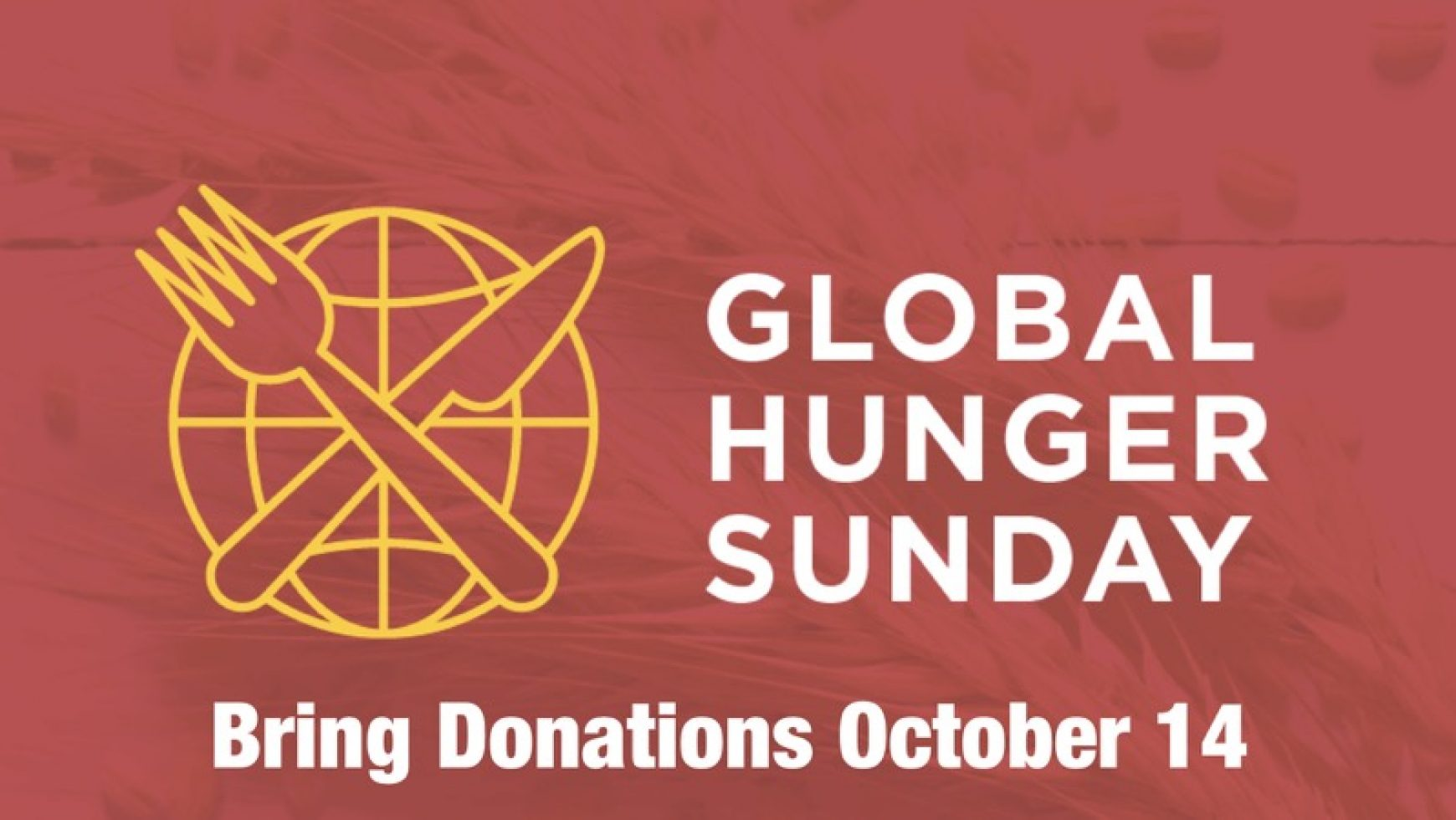 Global Hunger Sunday October 14